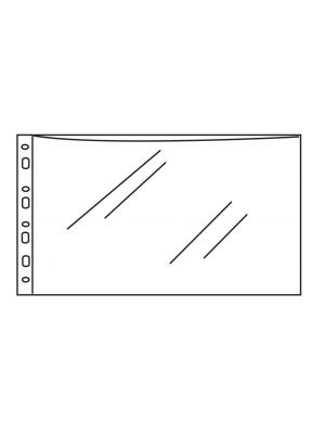 A4 Landscape Punched Pockets (Pack of 100) - Top Opening