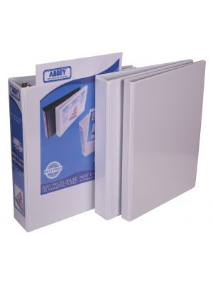 A4 White PVC Presentation Ring-binder