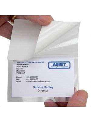 Business Card Self Laminating Pouches